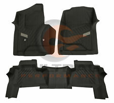 2015-2019 Chevrolet Suburban Front & 2nd Row Rear All Weather Floor Liners Black