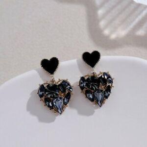 925 Silver Zircon Crystal Earrings Ear Stud Women Drop Dangle Jewelry Gifts