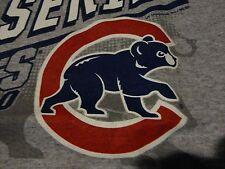Chicago CUBS ClevelaIand INDIANS World Series LOGO Baseball Gray T Shirt NWOT XL