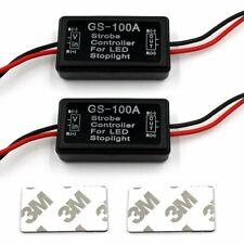 2x 12V-24V Flash Strobe Controller Flasher Module for LED Brake Stop Light Lamp