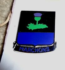 CREST,DI, 338TH INFANTRY REGIMENT, CLUTCH BACK,S38 HM