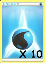 POKEMON: 10 WATER ENERGY CARDS - NEW - UNUSED