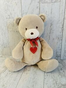 """Carters Just One Year Plush Baby Security Toy Lovey Bear Red Heart Tummy 10"""""""