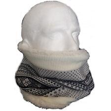 Polar Reversible de Punto Fairisle Cuello Braga Mascarilla Blanco Negro Redecilla