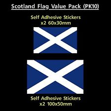 Scotland / Scottish Flag Sticker Decals - Value Pack! - Van, Car, Truck, Caravan