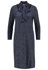 NWOT Gap Women's Softspun Knit Tie-neck Dress,NAVY HEATHER SIZE XXL   #325321