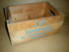 WOOD WOODEN CRATE BOTTLE MINI POP ZIP BEVERAGES CANADA VINTAGE CASE ONLY