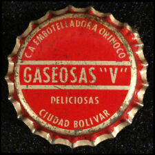 "GASEOSAS ""V"" CORK LINED SODA BOTTLE CAP CROWNS ORINOCO CIUDAD BOLIVAR VENEZUELA+"