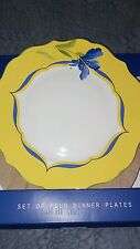 222 Fifth French Garden set of 4 dinner plates
