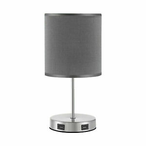 Dimmable Touch Control Lamp with Dual USB Charging Ports