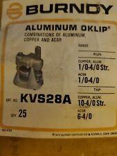 KVS28A BURNDY 2 BOLT CONNECTORS BOX OF 25