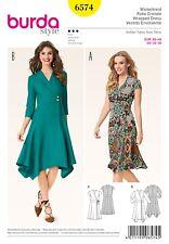 Burda Style Schnittmuster - Wickelkleid mit Taillenblende & Zipfelrock – Nr.6574