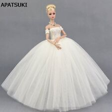 Pure White Wedding Dress for 11.5inch Doll Evening Party Clothes for 1/6 Dolls