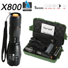 6000 Lumens X800 Flashlight LED Zoomable Military Torch ShadowHawk 18650 Battery