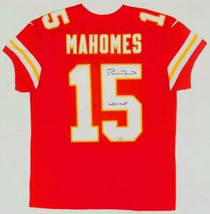 "PATRICK MAHOMES Autographed ""LIV MVP"" Chiefs Nike Elite Red Jersey FANATICS"