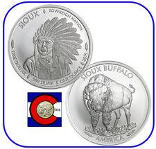 2015 Sioux Indian Buffalo $1 Silver 1 oz BU Coin/Round -- Native American Mint