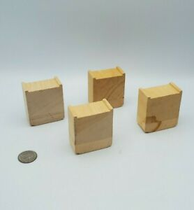 Wooden Railway Train Track Risers Supports Lot x4 works w Thomas & Friends, BRIO