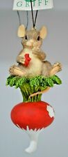 Charming Tails by Silvestri - This is Hot! Ornament - Mouse Eating a Radish
