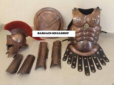 Medieval 300 King Espartano Casco Muscule Armor,Brazo + Pierna Guard & Escudo