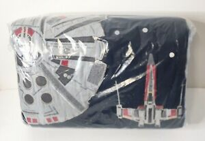 Pottery Barn Kids Star Wars Millennium Falcon Twin Quilt Coverlet Bedspread NEW