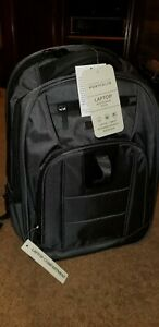NWT Perry Ellis Business laptop Tablet Backpack P328, 1680 d ballistic, charcoal