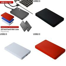 "USB3.0/2.0 2.5"" SATA HDD SSD Enclosure Mobile Hard Disk Case Box for Laptop Hot"