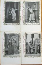 1902 Champagne Mercier Advertising Postcards w/Sarah Bernhardt - FOUR Different