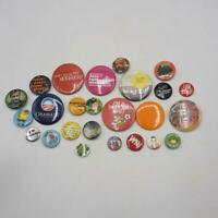 Lot of 25 Vintage & Modern Button Badges Pins Pinback