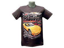 """Corvette C5 T-Shirt """"Legends Are Made"""" Charcoal Small"""