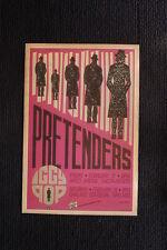 Pretenders Iggy Pop 1987 tour poster Oakland Kaiser