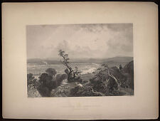 Connecticut River Valley Mount Holyoke William Bartlett 1839 engraving