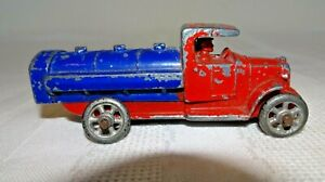 "1930s Barclay Slush Toy Mack Oil Truck  3.5"" L"