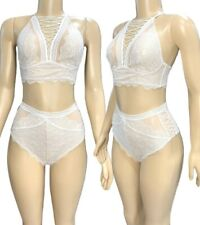 Victorias Secret Very Sexy Set Lace High Neck Bralette Bra High-Waist Panty