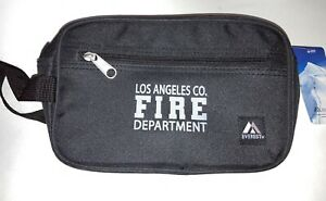 New Everest LA CoFD County Fire Dept Dual Compartment Toiletry Bag Black 578W
