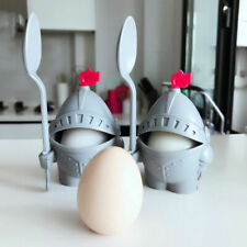 1Pcs  Arthur Boiled Egg Cup Holder With Eating Spoon Knight in Shining Armour