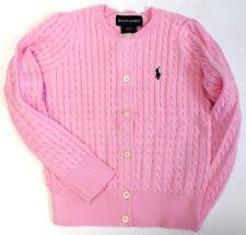 54ec423455a0 Ralph Lauren Polo Girls Sweater Sz 2 2t Kids Cable Cardigan Light Pink