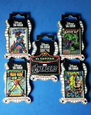 Disney Pins Avengers Comic Book Covers + Marquee Set of 5 LE 300 OC DSF RARE
