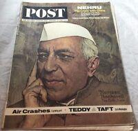1963 Nehru China Air crashes   Saturday Evening Post Magazine