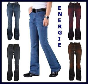 jeans energie da uomo new morrison a zampa fondo largo svasati bootcut w29 30 31
