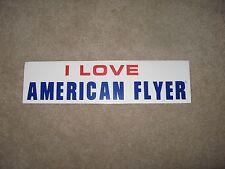 American Flyer Model Train - I Love Bumper Sticker Af Mint
