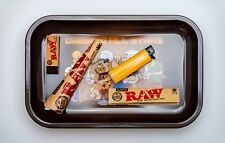 Bundle Deal Large Rolling Tray Raw Rolling Paper Pre-Rolled Cones Tips Lighter