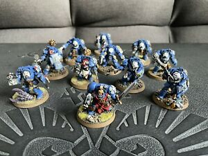 warhammer 40k Space Marines well painted with carry case