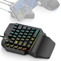 Mini Game Keyboard Mouse Keypad One Hand with Backlight for Computer PC Laptop