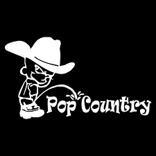 Piss On Pop Country Southern Car Truck Window Wall Laptop Vinyl Decal Sticker.