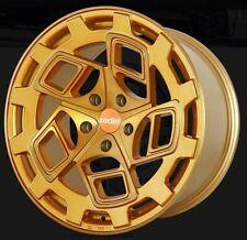 19x8.5 Radi8 CM9 5x112 +45 Gold Brush Rims Fits audi a3 tt(MKII) gti (MKV,MKVI)