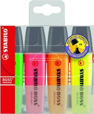 STABILO BOSS Original Penne Evidenziatore contrassegni wallet di 4-colori assortiti