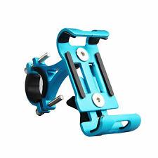 Handy Halterung für Fahrrad Universal Alu Motorrad Navi Befestigung Lenker Blau