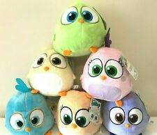 "New Set of 6 Angry Birds Plush Hatchling Large 8"" each. Soft Animal Toys. NWT"