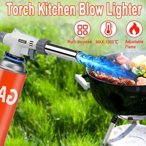 BBQ Flame Gas Torch Gun Blowtorch Lighter Butane Burner Heating Welding Outdoor