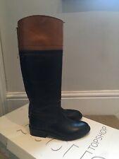 Topshop Black Flat Boots size 4